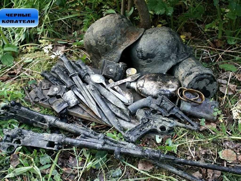 Раскопки нетронутых немецких блиндажей от черных копателей
