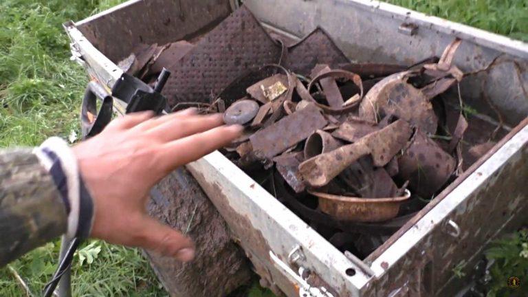 Дмитрий Мусихин накопал металлолома целую телегу